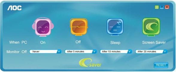Software for AOC Monitor: e-Saver, Screen+ and i-Menu – Software